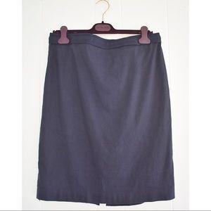 Elie Tahari stretch pencil skirt navy blue sz 16